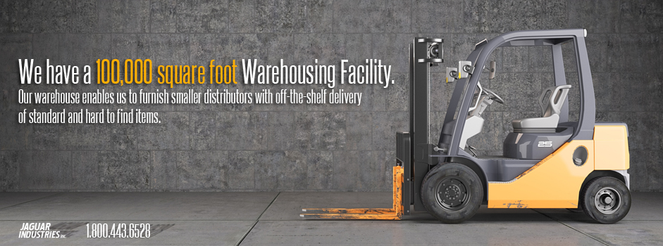 Forklift standing on industrial dirty concrete wall background
